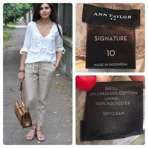 Ann Taylor Signature Linen Blend Pants